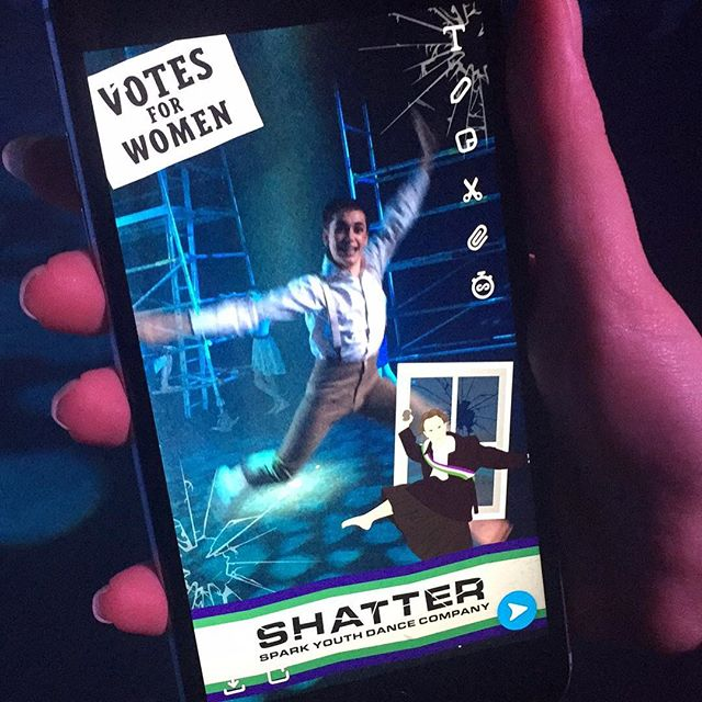 Who used our epic Snapchat geofilter during our recent shows of 'Shatter'?! 😍🙌🏻 . . #snapchat #geofilter #suffragettes #womensrights #protest #vote #filter #photos #dance #contemporarydance #newwork #worldpremiere #SYDCShatter