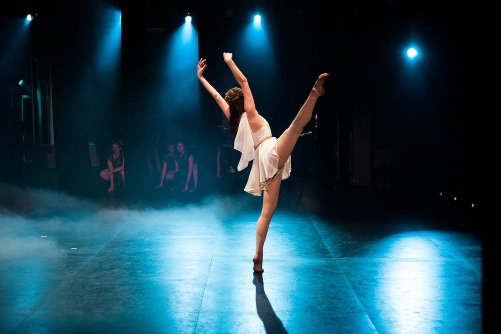 Classical ballet and contemporary dance performances -