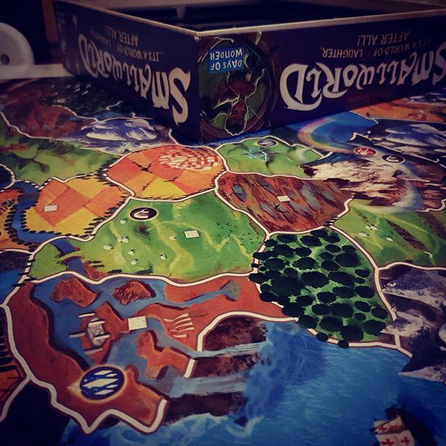 I love playing board games 😊 #smallworldboardgame #boardgamesaturday