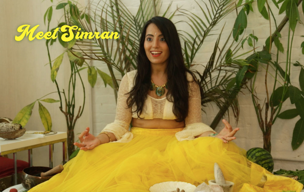 Simran during a shoot for Cosmic Indian Kitchen. Photo Credit: Visionary Organics