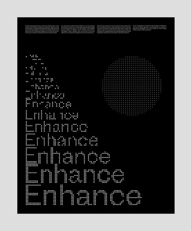 """""""Let's enhance it. Enhance the reflection in her eye. Zoom in on the door, x10. Rotate us 75 degrees around the vertical. Freeze and enhance."""" 🔍 . . . #poster #posterdesign #plakat #affiche #graphicdesign #designinspiration #visual #design #typography #typographicposter #kinetic #motiongraphics #type #visualgraphc #typedesign #enhance #grid"""