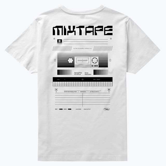 My new MIXTAPE T-shirt is available now on @everpresshq  The first 18 people who will preorder it, will get one black marker to customize the t-shirt. You have 21 days until the campaign ends. Link in BIO. . . . #everpress #tshirt #mixtape #cassette #retro #tech #font #graphicdesign #tshirtdesign #blackandwhite #visual #design #designeverywhere #designinspiration #collectgraphics #selectedwork #visualgraphc #illustration #geometry #80s #90s #apparel #graphictee #designfeed #clothing