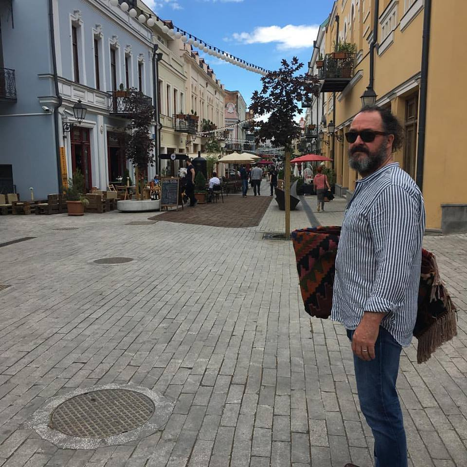 Alan Forrest Smith in Tbilisi, Georgia where he goes to write and also lives part-time.