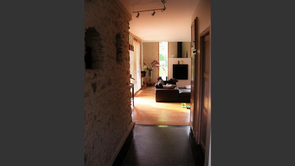 intérieur Extension d'une maison à Méré (Yvelines) France. Atelier Messaoudi architecture aménagement et design. Bureau d'étude Algérie.