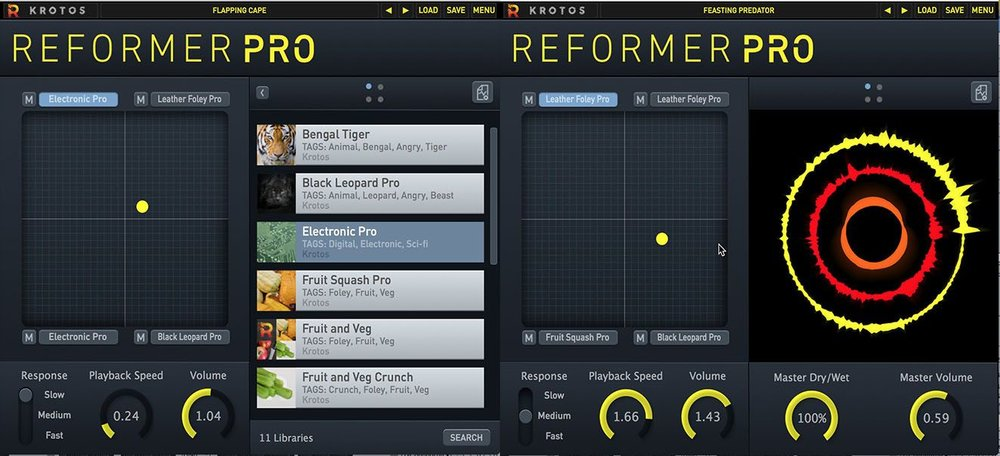 Reformer Pro allows sound designers, producers, musicians and performers to design, automate and perform any sound in real-time