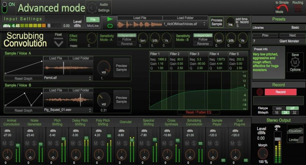 Dehumaniser Pro Extended is the industry's most advanced standalone creature sound design tool.