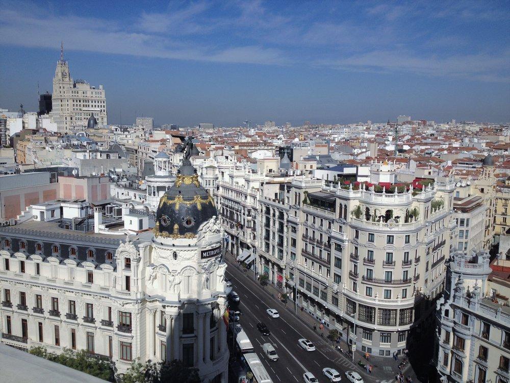 Skyline from the top of Círculo de Bellas Artes, Madrid