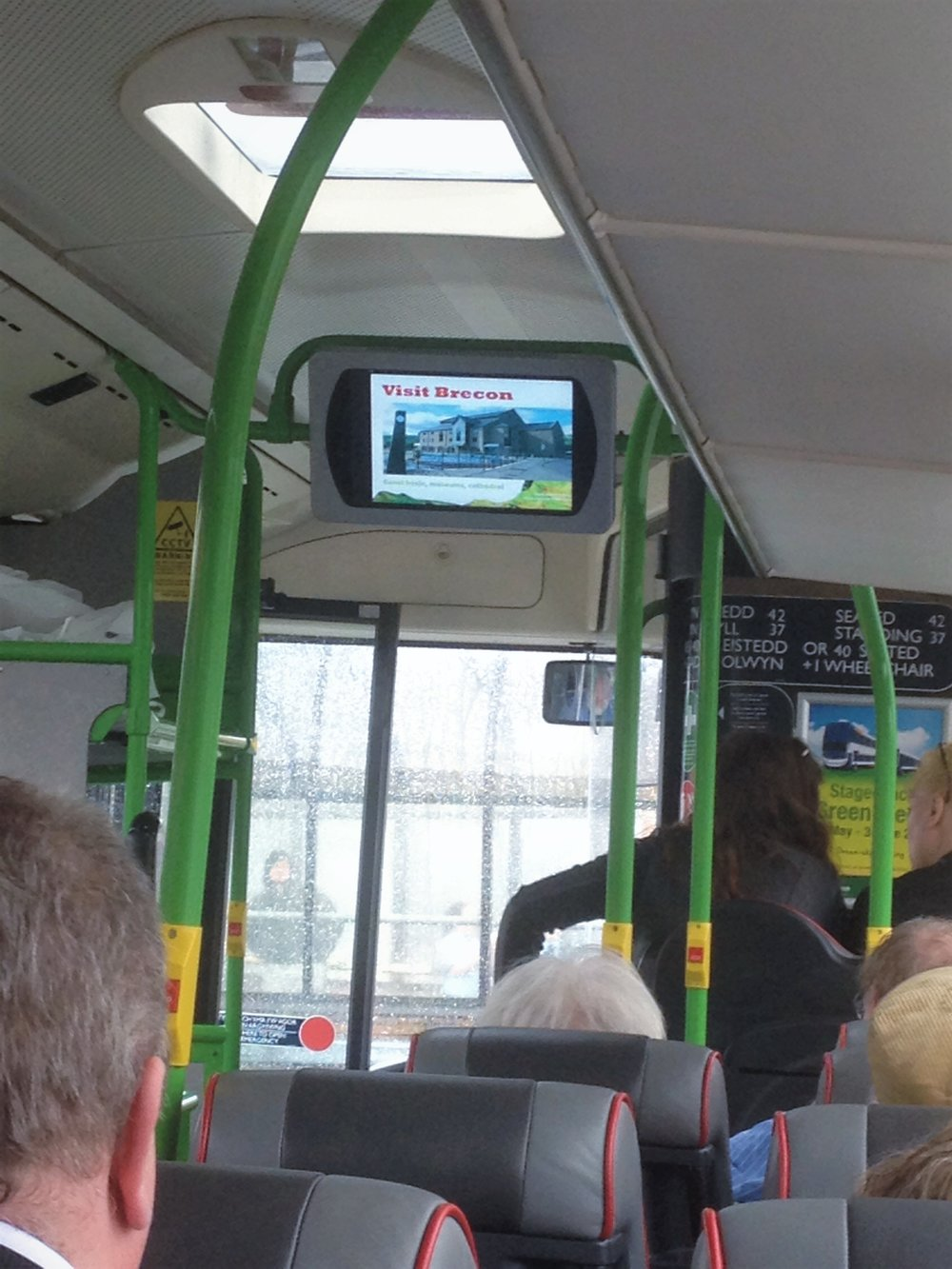 T4 bus - on our way to Brecon
