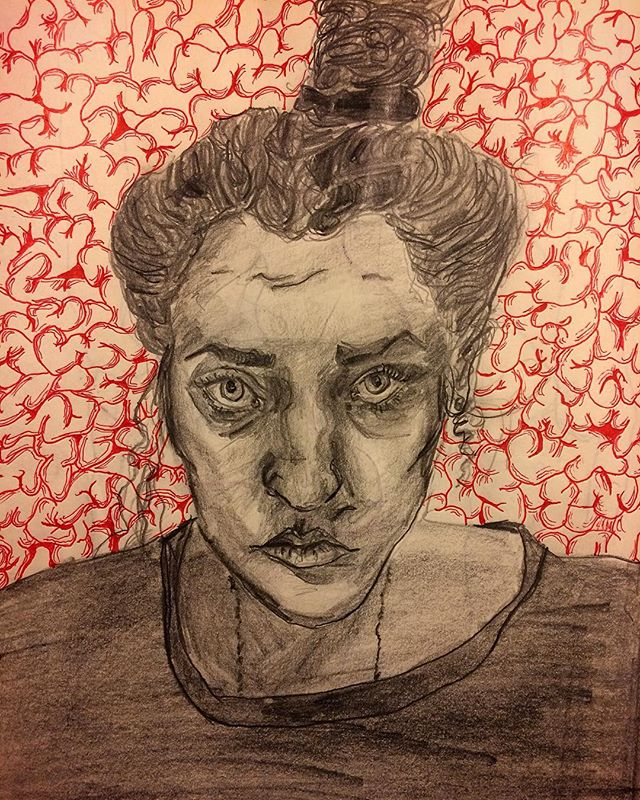 #cantsleep doing #midnight #brain #drawings in the #sketchbook.  #sketch #processart #midnightmemories #midnightdrawing #brains #gehirn #pencil #pencilonpaper #penonpaper #blood #neuralnetworks #neurology #art #medicalart #anatomicalart #anatomy #artandscience #doodle #portrait #selfportrait #portraiture #kunst #sculptorsdrawings