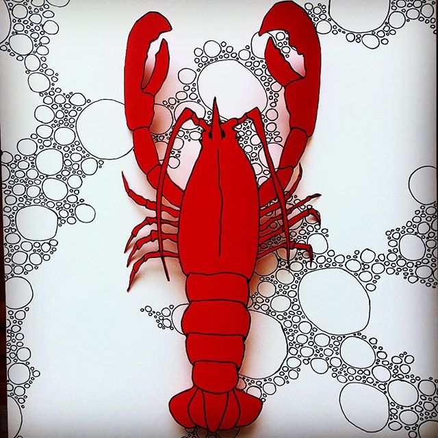 At the @emporiumofeverydayexcellence #artistcollective we are so obsessed with #lobsters that instead of being in the #sun we #draw,#collage , #build #idols of our #lobster leader!  #lobstercult #popupshop by #theemporiumofeverydayexcellence will open 16th April.  #exhibiting work by @honestpeoplearescum @eviana083 @callumleohughes and myself at #retrampgallery. #independentdesigner s include @ropeschainsandbones @forkit.design @berlinwivesclub @a.achat and more.  Music by @julianasalive and @millyblue .  #berlinart #drawing #collective #artist #sculptorsdrawings #berlinartist #exhibition #fanzine #jewellery #fashion #3ddrawing