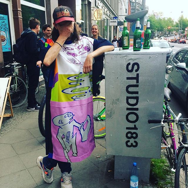 Made a new Unisex Dress. Get one before they're gone @studio183_berlin illustration @paul_waak design @a.achat #collaboration #genderless #genderlessfashion #handmade #uniquepieces #berlinmitte #berlinshopping #artandfashion #limitededition #yeah🔥🔥🔥🔥🔥