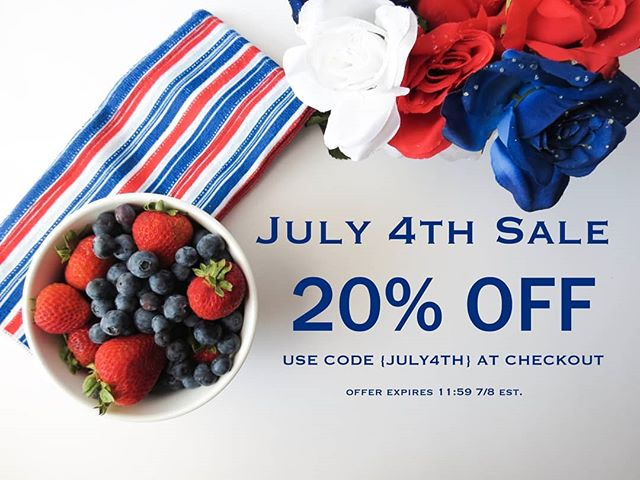 🇺🇸THIS WEEK ONLY! 20% OFF ALL ORDERS!🇺🇸 Let's celebrate our independence AND our forests this 4th of July! 🌲🌲🌲 . *10% of every sale goes to reforestation efforts*