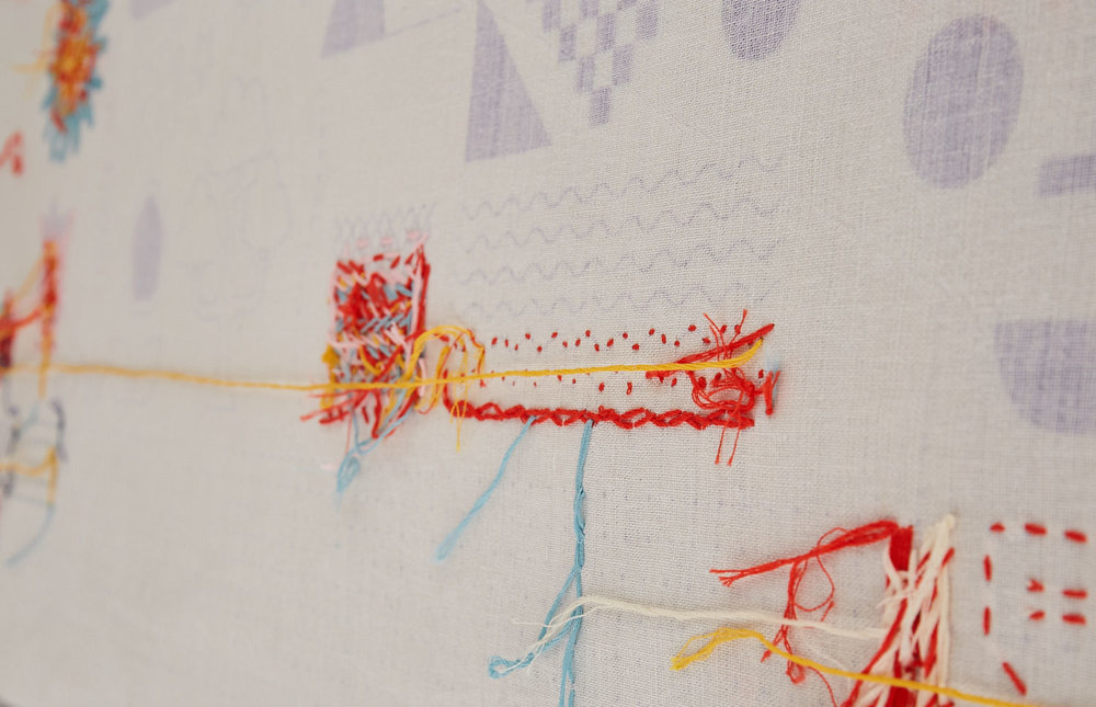 Hand embroidery on 100% Linen