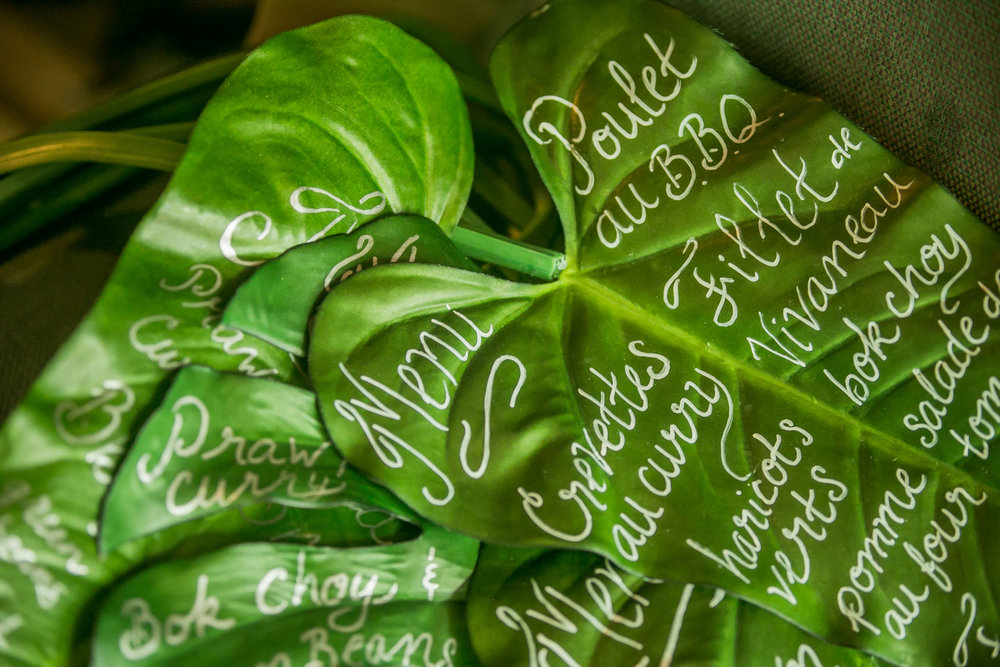 DIY Tropical LEAF Menus -