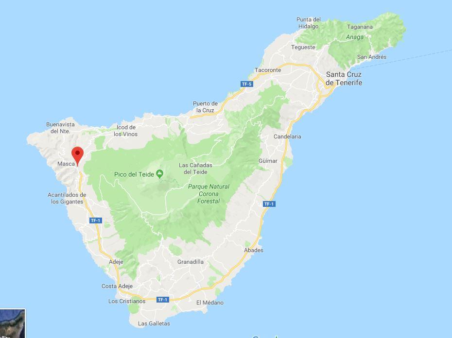 Santiago del Teide on Tenerife