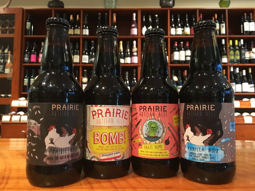 From left: Prairie Noir, Prairie Bomb!, Pirate Bomb!, Vanilla Noir