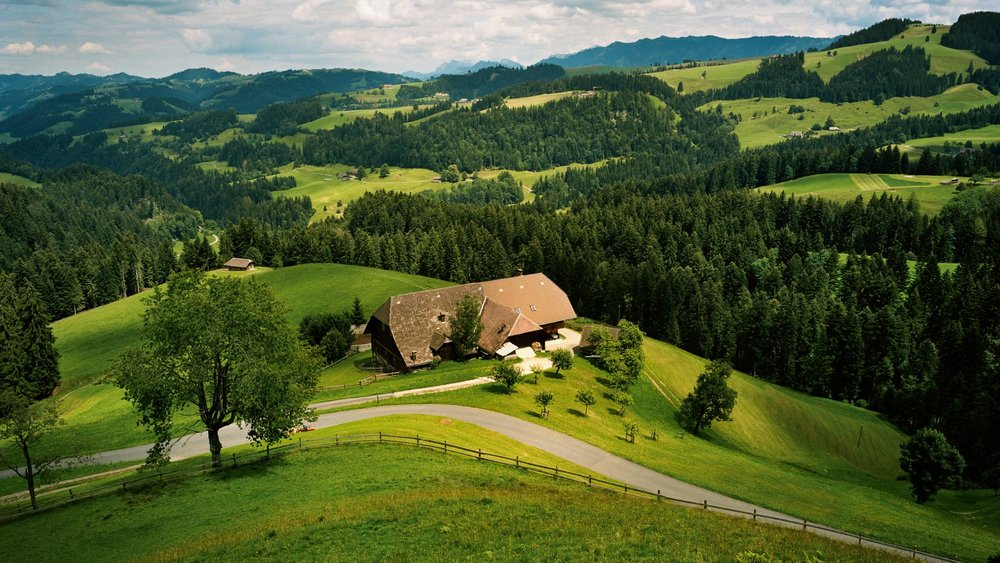 The Emmental Valley, talk about picturesque.  Image Source