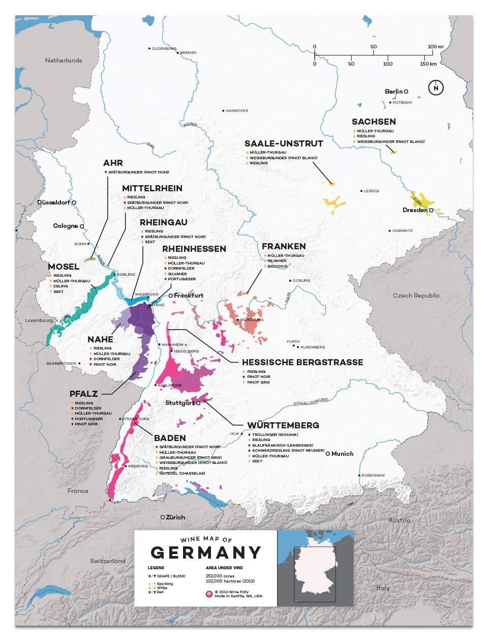 Map Of Germany With Regions.German Jaunts A Short Trip Into German Wine Bacco S Wine Cheese