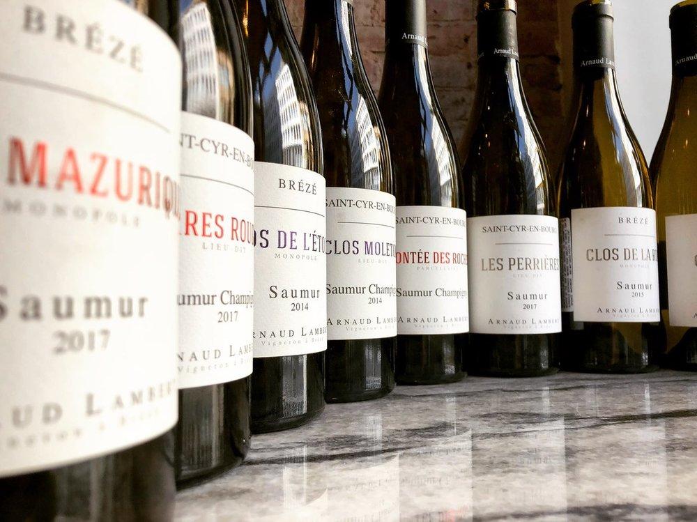 A horizontal of single vineyard Chenin Blanc and Cabernet Franc