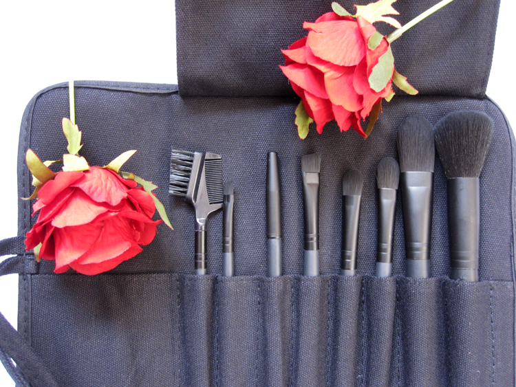 Makeup Brushes - Inika offers professional brushes in one perfect roll set, to place under the tree. Not to mention it's great price!