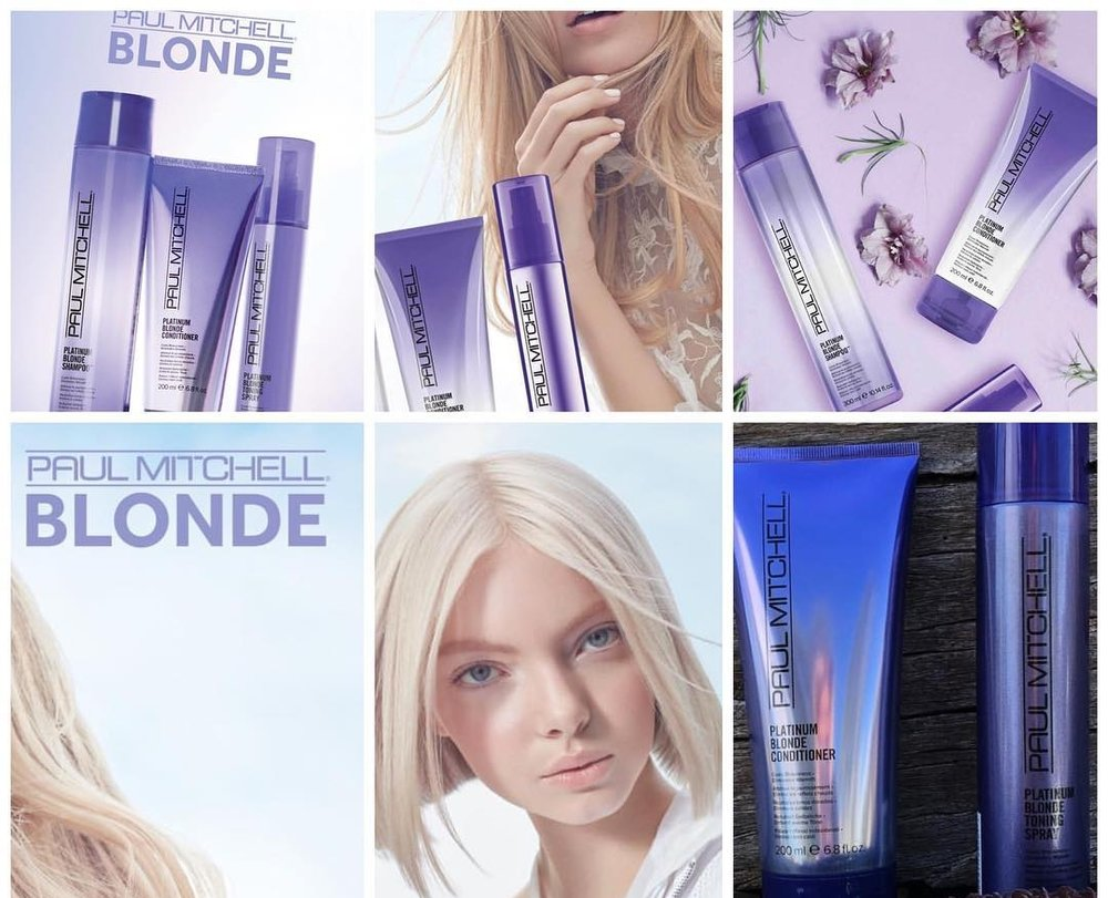 Platinum Blonde Series - Add to Paul Mitchell's purple shampoo with the NEW Platinum Conditioner and Platinum Toning Spray.