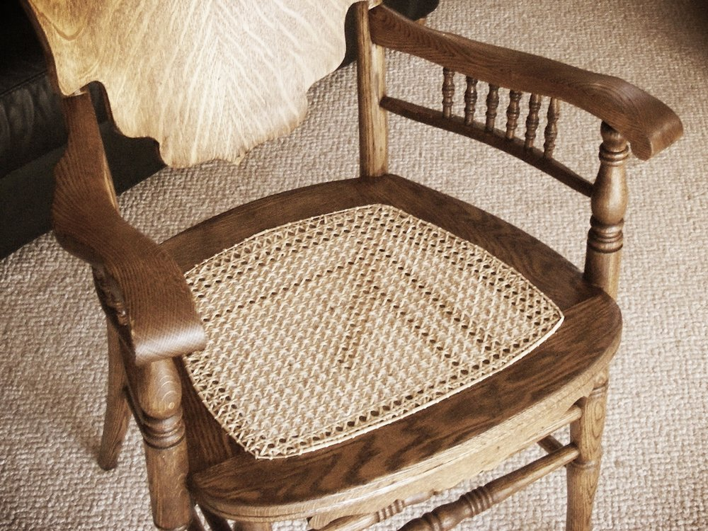 Opa's Custom Woodworking can help with your furniture refinishing and restoration, including re-caning chairs with beautiful, old world technique.