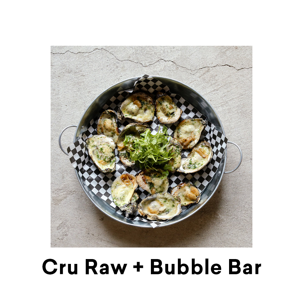Cru Raw Bubble Bar New Orleans Pythian Market for Louisiana Street Food Fest