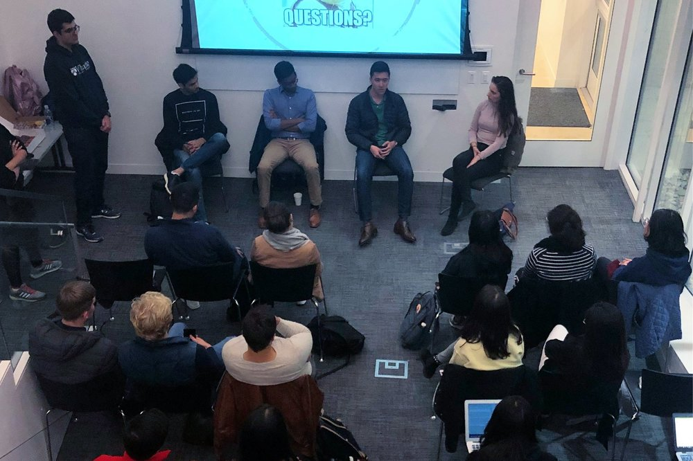 Internship & Networking Panel - A&E hosted its internship panel where students learned about internship and research opportunities in the US for international students at Penn. The panel shed a light on the best practices to get employed, and the panelists included international students who either have or will be interning at places such as PURM, Facebook, Morgan Stanley and Strategy&!