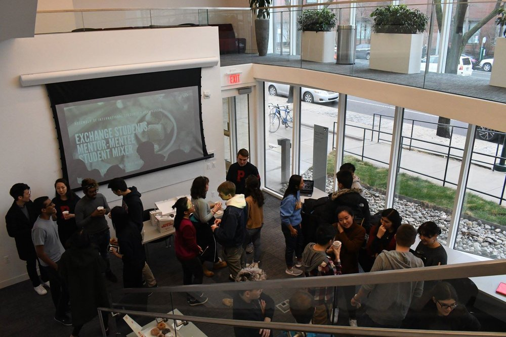 Exchange Students Mentor-Mentee Mixer - On February 24th, IMO organized a Mentor-Mentee Social for Penn's exchange students. Students had the opportunity to meet and interact with their mentors and AIS members  in person.