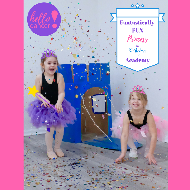 Fantastically FUN Princess & Knight Academy - May 30th – June 1st     (3 Days)Ages 3-5 - 9:00-11:30am ($45 Early Bird/ $55 Regular) +$15 Act. FeeAges 5-12 -9:00am-3:00pm ($80 Early Bird/$100 Regular)+$25 Act.FeeFollow your heart and create your own fairy tale in this fantastically fun ballet and tap adventure!  Dance thought the Magical Kingdom of Tip Tap Toe.  Upon reaching the castle dancers will be granted stunning powers from the Royal King and Queen, and receive an invitation to the Spin & Sparkle Ball!  This crash course will include sparkling crowns, castle creation, and more!