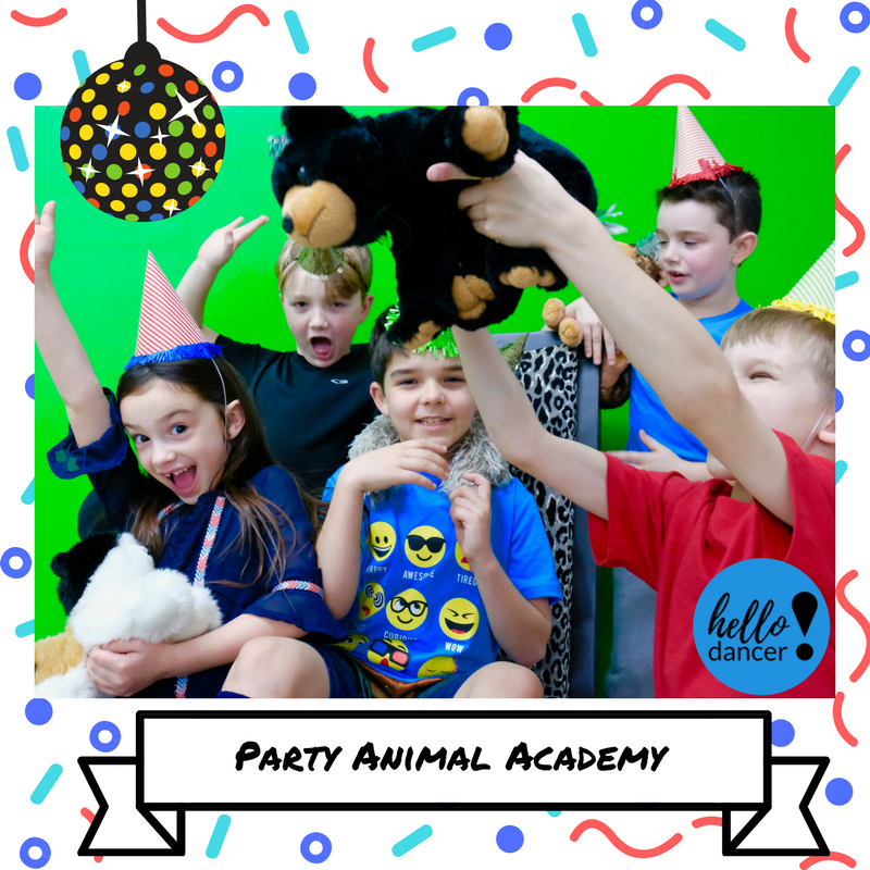 Party Animal Academy - July 16th-20th Ages: 5-12 - 9:00am-3:00pm ($130 Early Bird/$165 Regular)+$25 Act.FeeIt's time to just let loose and have a grand time in this week of fantastically fun events!  It's your duty to set up and plan a huge party that only all of the coolest animals are invited! Boogie on down the yellow brick road and let's party!