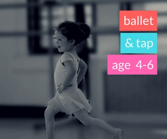 Ballet & Tap (Spring 2018)   - AGE 4-6Mondays 5:30-6:15pm ORThursday 4:45-5:30pmLeap and dream while learning the fundamentals of classical ballet and tap with engaging music and fun props!  We will focus on rhythm, counting, group cooperation, all while stretching our imaginations and toes.