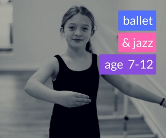 Ballet & Jazz (Spring 2018)   - AGE 7-12Wednesdays 6:15-7:00pmThis class is packed with bright smiles, beautiful ballet, and snazzy jazzy dance moves!  Your child will gain grace, poise, flexibility, and balance all while learning classical ballet.  This foundation is built upon in jazz with stylized movement, that will build self confidence and strength set to upbeat age appropriate music.