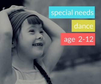 Special Needs Dance (Spring 2018)  - AGE 3-7Wednesday 4:45-5:15All students are welcome to participate in this fun inclusive dance classes designed for children with special needs.  Your child will gain body awareness, social interaction, confidence, and creative expression in an environment where we truly celebrate each dancer!
