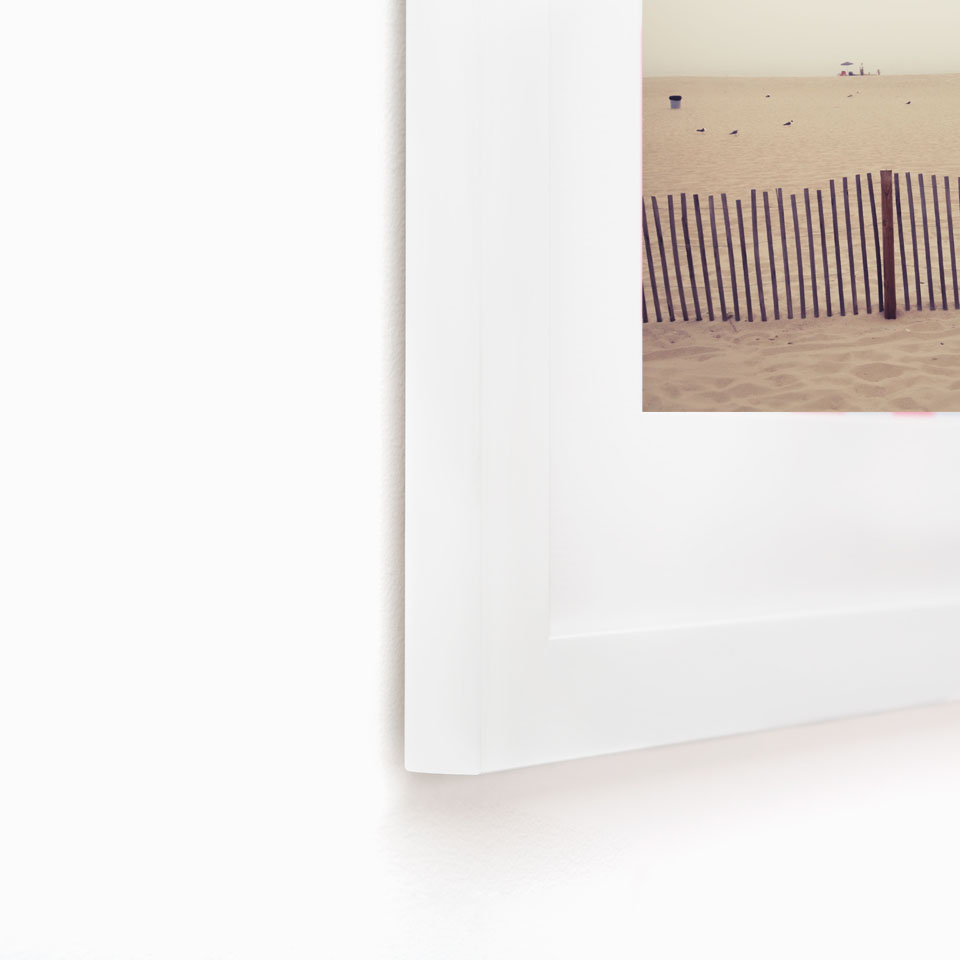detail of Jersey Shore image with white-wood-frame-by -Kate-Uhry