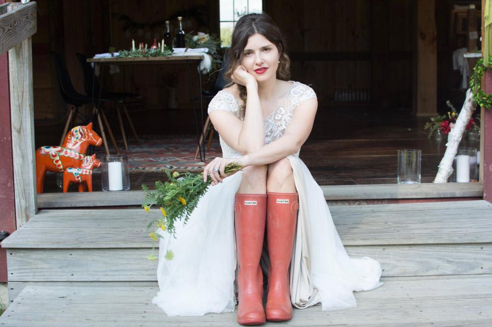 Swedish inspired Barn wedding