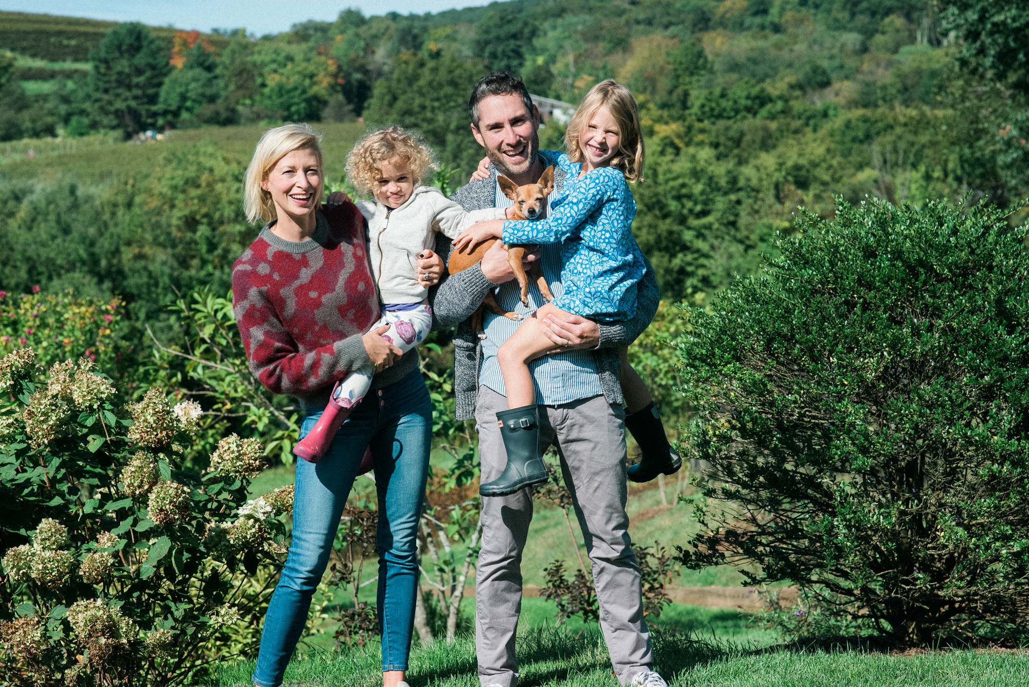 fun fall family session in Warren CT