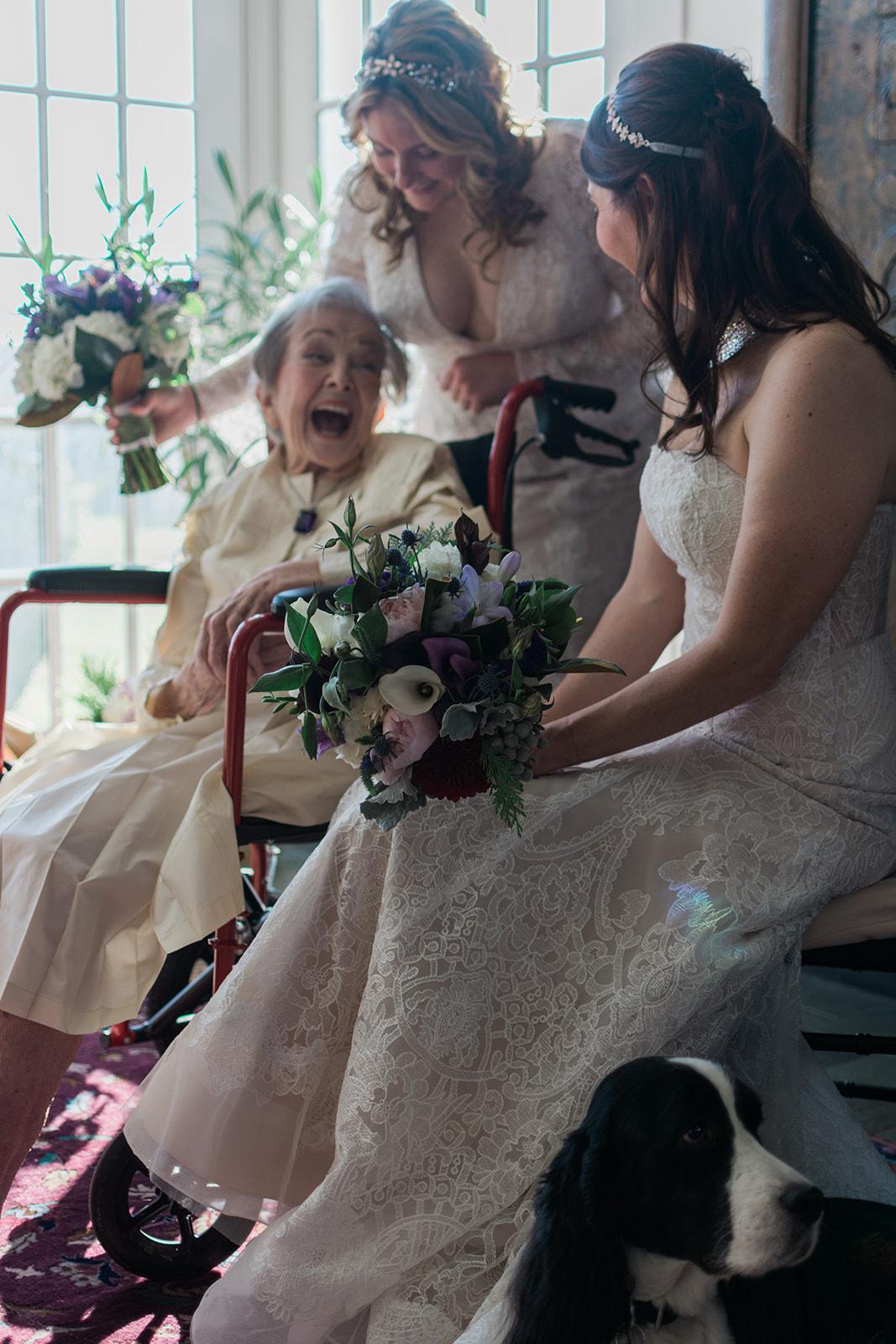 Miranda & Lindsey's at home wedding