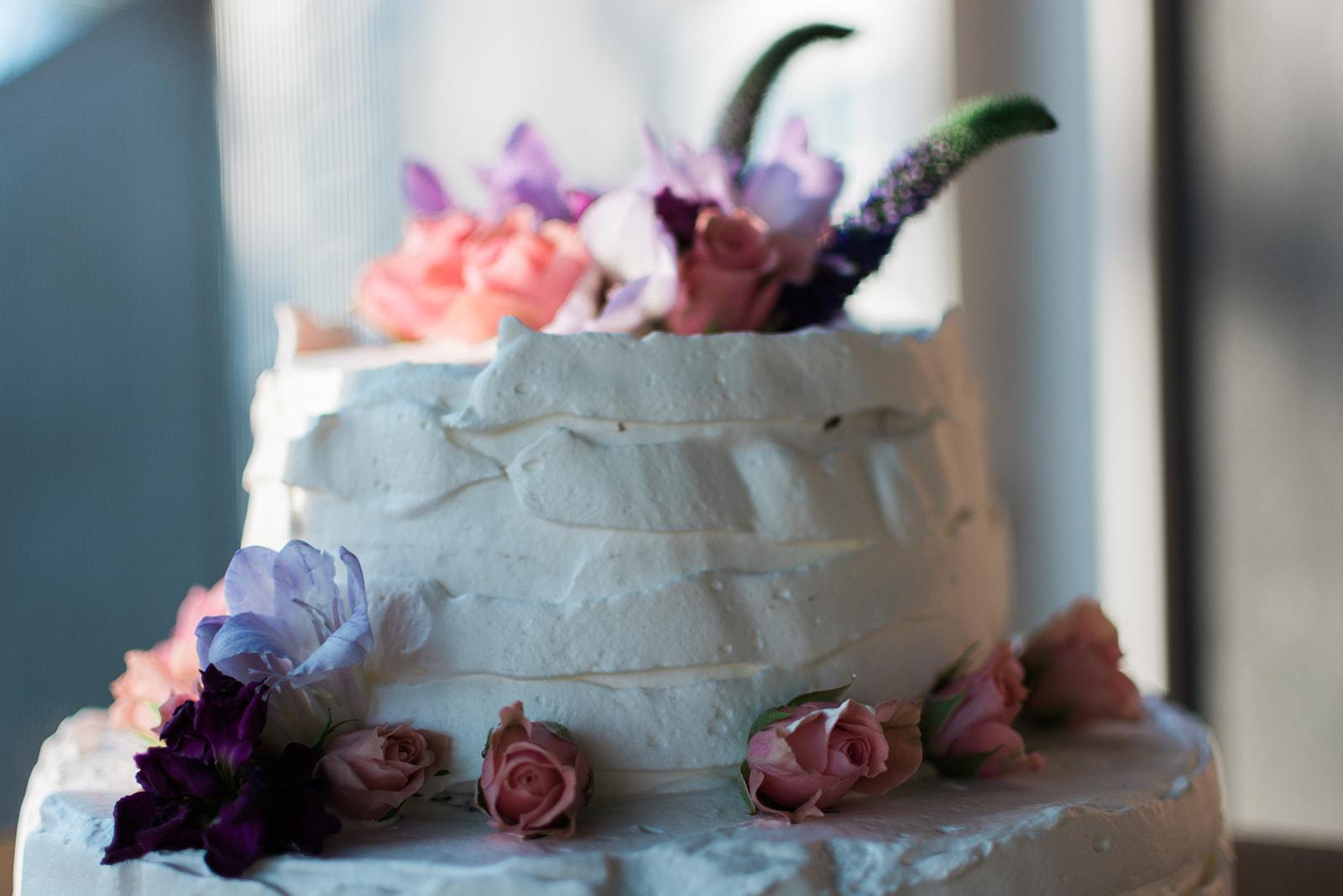 Miranda & Lindsey's at home wedding-wedding-cake