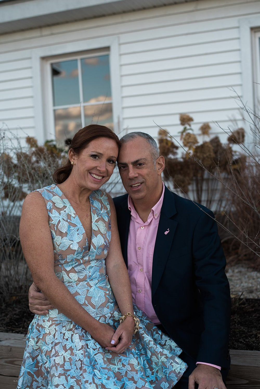 located in South Morris, CT. On a cool and windy Novemeber day L & J celebrated with their families and friends . They were married at a small private cereomy a
