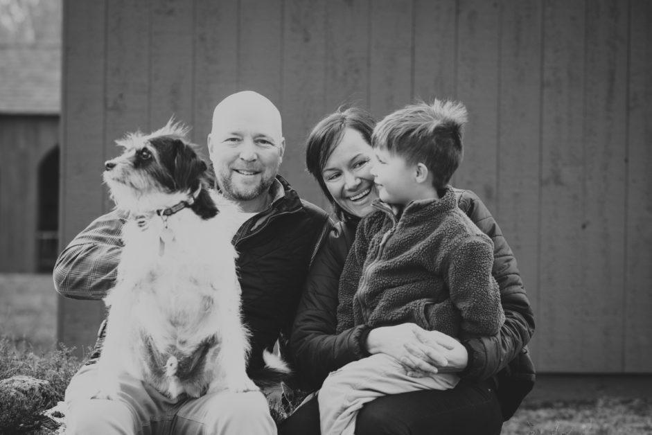 Winter Family session, Washington, CT