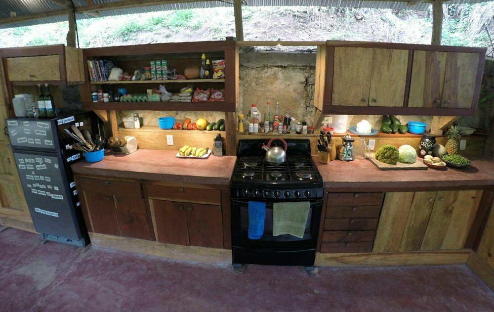 The only Community Kitchen near Lanquin and Semuc Champey at Ch'i Bocól Community Hostel