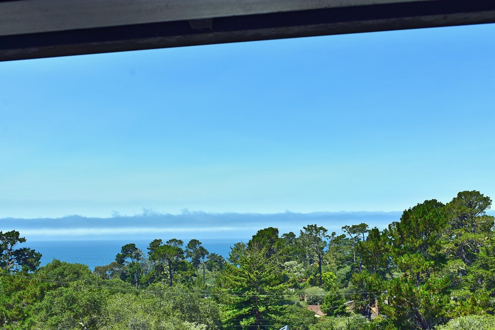 The stunning view of Pebble Beach from Hofsas House.
