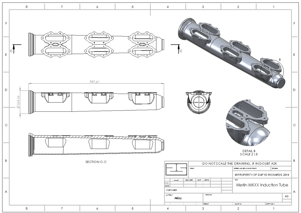 15 - Merlin Induction Tube - SOLIDWORKS Drawing.PNG