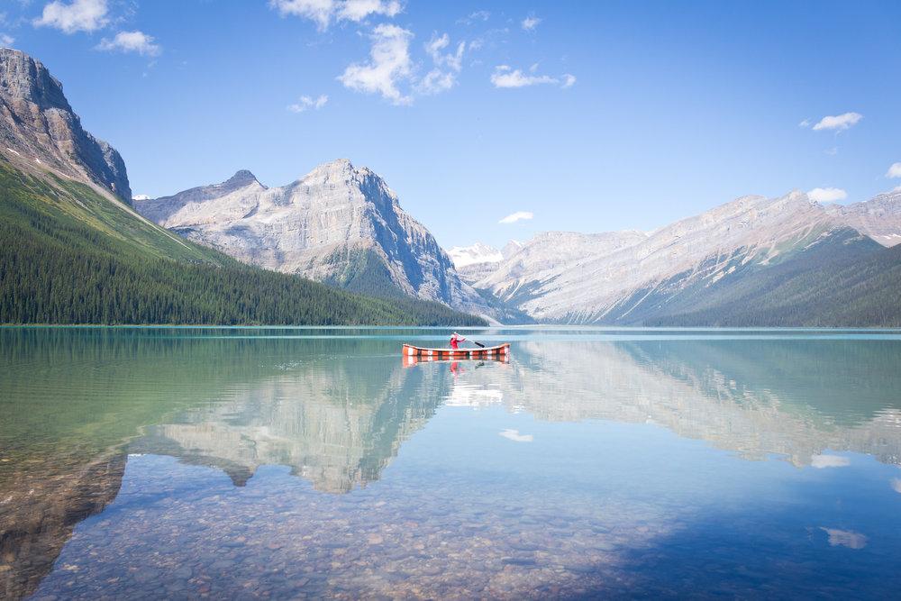 Hector Lake Canoe - Banff National Park