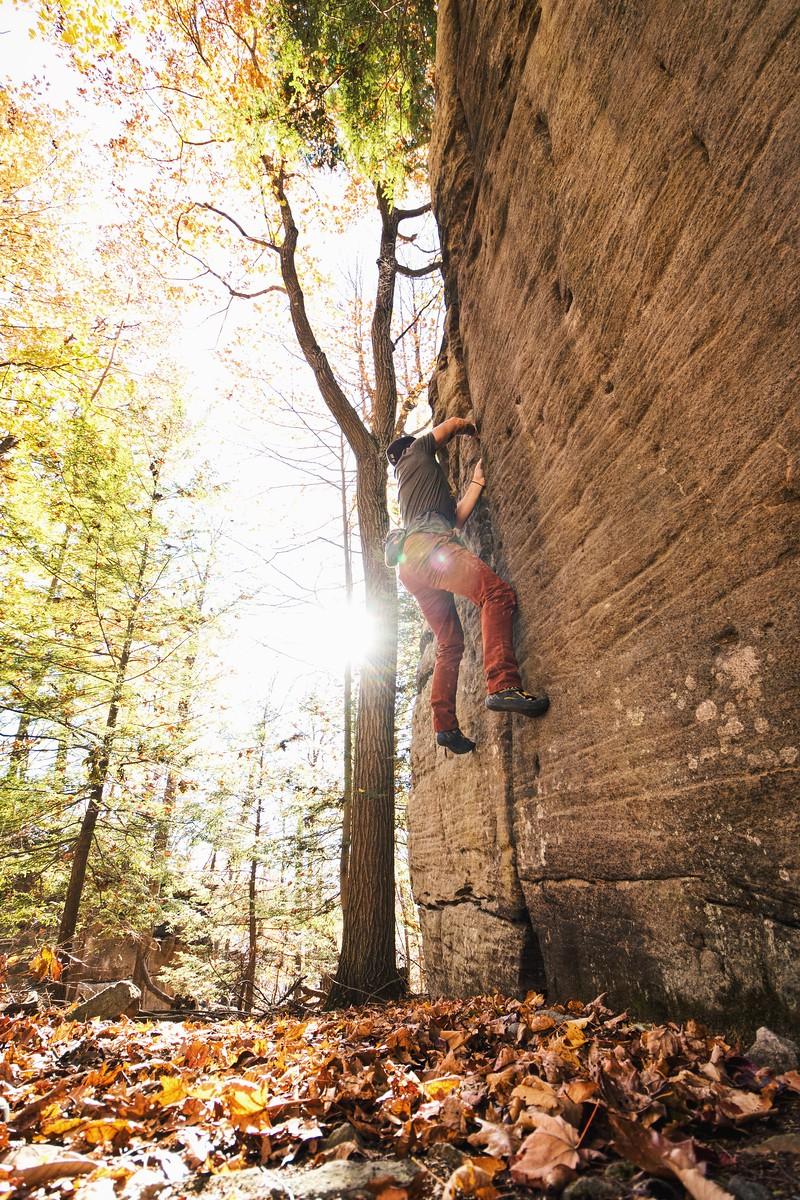 Kevin Uncapher - Coopers Rock Bouldering - West Virginia