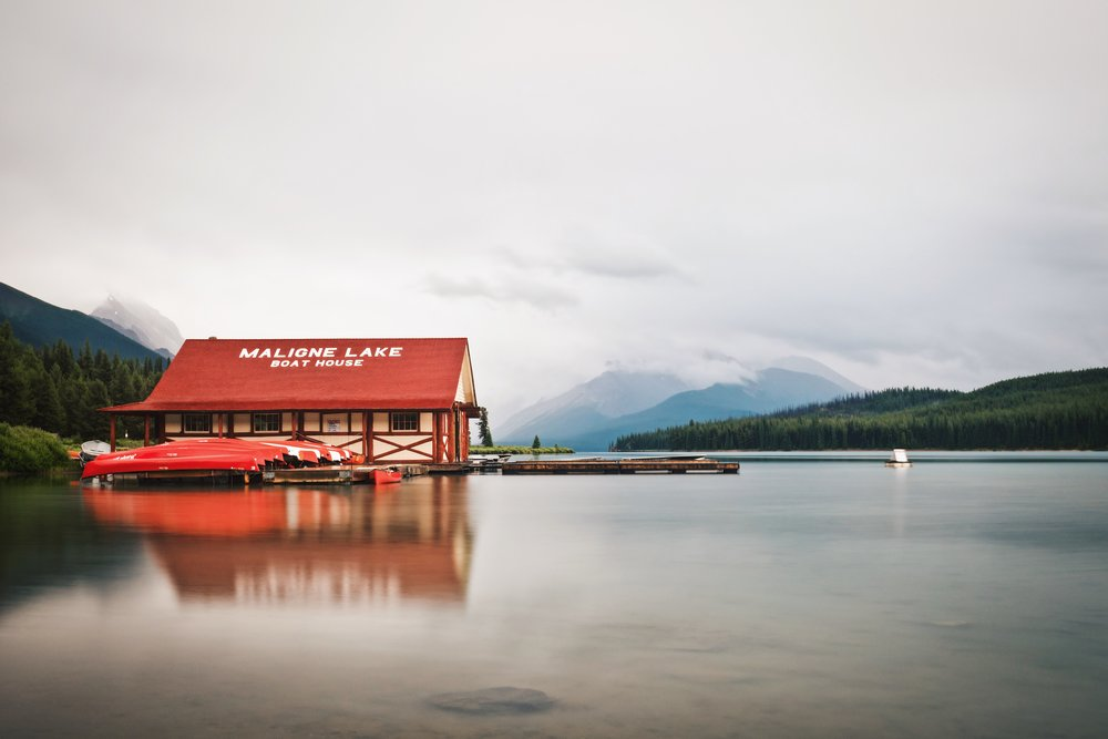 Maligne Lake Boat Dock - Jasper National Park