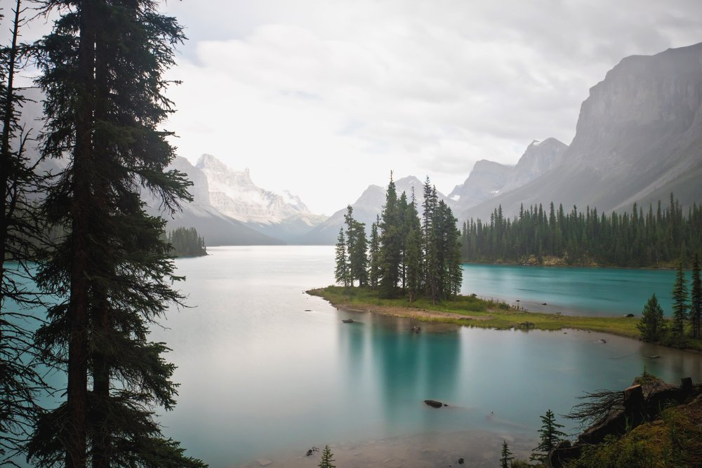 Spirit Island at Maligne Lake - Jasper National Park