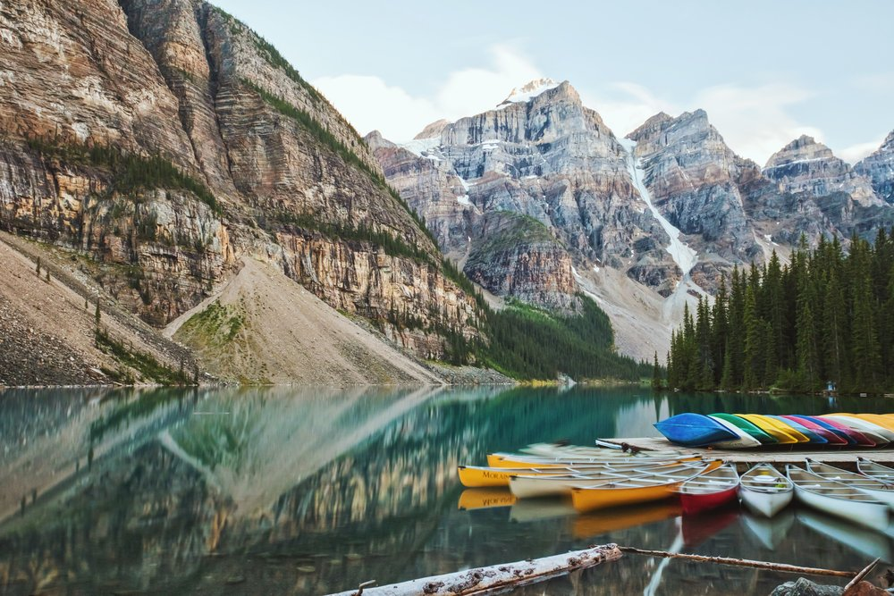 Moraine Lake Canoe Dock - Banff National Park
