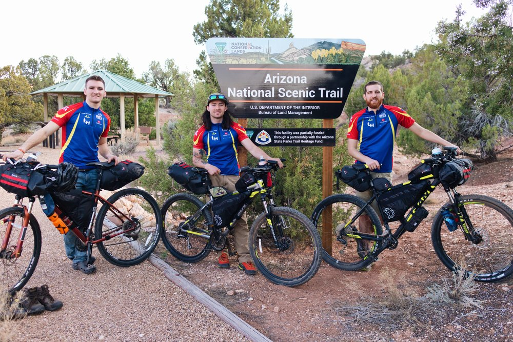 The crew at the Stateline Campground / AZT trail head.
